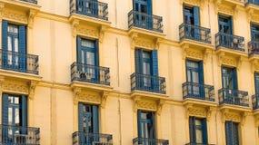 Yellow Residential Building Stock Photos