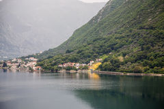 Yellow Resort on Montenegro Coast Royalty Free Stock Photos