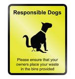 Responsible dogs Royalty Free Stock Image