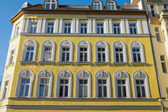 Yellow restored house in Berlin Royalty Free Stock Photography