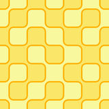 Yellow retro background. 60s style. Seamless tile Royalty Free Stock Photo