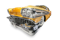 Yellow retro car, Stock Images