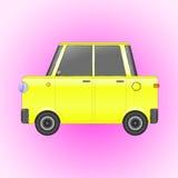 Yellow retro car Royalty Free Stock Photo