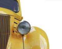Yellow retro car Stock Images