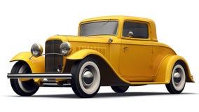 Yellow Retro  Car Stock Photos