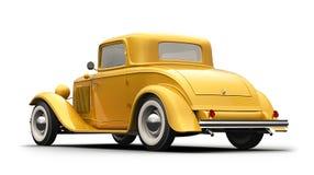 Yellow Retro  Car Royalty Free Stock Photography