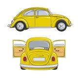Yellow retro car. Vector. EPS10 Stock Photography