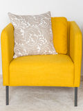 Yellow retro chairs Stock Images