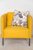 Yellow retro chairs Stock Photo