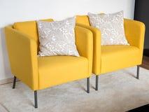 Yellow retro chairs Royalty Free Stock Image