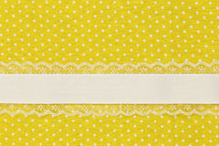 Yellow retro polka dot textile Royalty Free Stock Photos