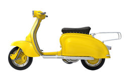 Yellow Retro Scooter Stock Images