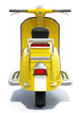 Yellow Retro Scooter Royalty Free Stock Photos