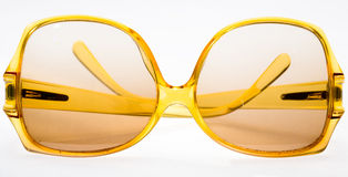 Yellow retro Sunglasses Royalty Free Stock Photography