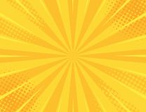 Yellow Retro vintage style background with sun rays vector illustration.  royalty free illustration