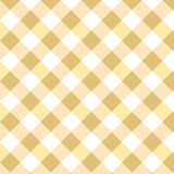 Yellow rhombus Gingham pattern. Squares Texture for plaid, tablecloths, clothes, shirts, dresses, paper, bedding, blankets, quilts. And other textile products vector illustration