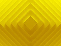 Yellow rhombuses abstract image works. Good for text backgrounds, website backgrounds, print or app. 3D illustration Royalty Free Stock Photo