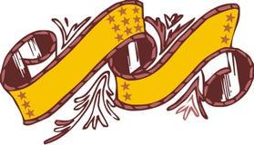 Yellow ribbon. Two yellow clip art heraldic ribbons Royalty Free Illustration
