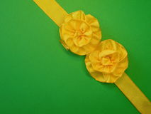 Yellow ribbon Stock Photography
