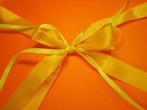 Yellow ribbon Stock Photo