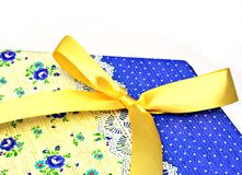 Yellow ribbon Royalty Free Stock Photos