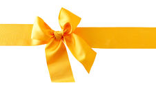 Yellow Ribbon Royalty Free Stock Photography