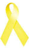 Yellow ribbon. Denotes several meanings Royalty Free Stock Image