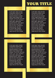 Yellow Ribbon Background Page Layout Design Royalty Free Stock Photography
