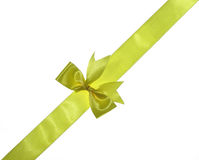 Yellow ribbon with bow Royalty Free Stock Images