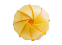 Yellow ribbon Create a sphere Stock Image