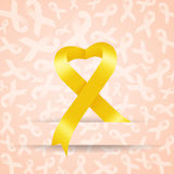 Yellow ribbon for Endometriosis Stock Image