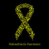 Yellow ribbon for Endometriosis Stock Photo