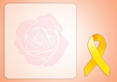 Yellow ribbon for Endometriosis Royalty Free Stock Images