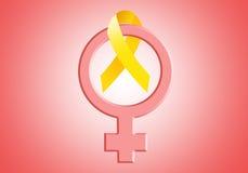 Yellow ribbon for Endometriosis Stock Photos