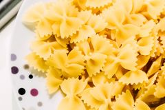 Yellow Ribbon Pasta royalty free stock images