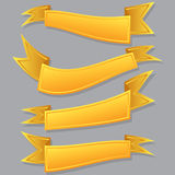 Yellow ribbon set. Stock Image