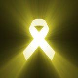 Yellow ribbon symbol shinning Stock Photo