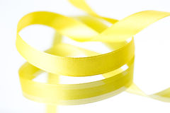 Yellow ribbons Royalty Free Stock Images