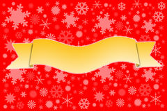 Yellow ribbons on snow background. Royalty Free Stock Photo