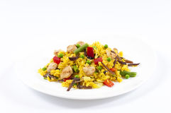 Yellow rice Royalty Free Stock Image
