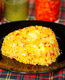 Yellow rice with saffron. Indian Cuisine Stock Images