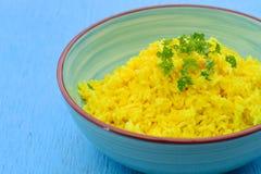Yellow rice. Yellow turmeric rice, Indonesian food Royalty Free Stock Photo