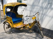 Yellow rickshaw Stock Image