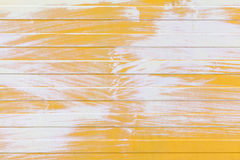 Yellow ridged metal wall texture with white paint. Layer Stock Image