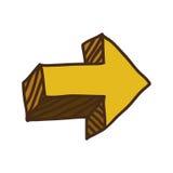 Yellow right arrow symbol icon Stock Photo