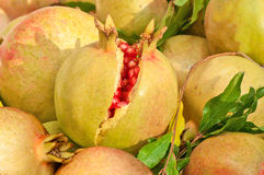 Yellow rind pomegranate Stock Photo