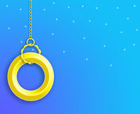 Yellow Ring Background.  Wallpaper. Yellow ring over blue background Stock Photo