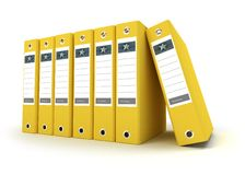 Yellow  ring binders Royalty Free Stock Photos