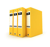 Yellow ring binders Stock Photo