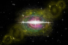 Yellow ring nebula Royalty Free Stock Photo